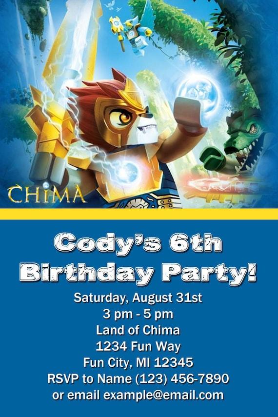 Legends of chima birthday invitations party invitations ideas
