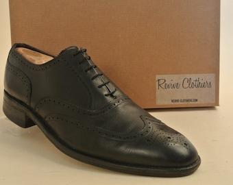 Easy Flex Black Wingtip 13 D Dress Shoe