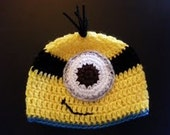 Despicable Me Minion Hat Newborn through Adult are available great photography prop christmas gift