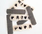 Washi Bandages - Halloween, Black and White, Skulls, Polka Dots, Kids, Children, Accessories, Get Well