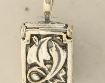 Sterling ,Silver, Jesus, Prayers box ,pendent, charm ,crucifix art