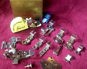 Vintage Lot Greist Sewing Machine Accessories