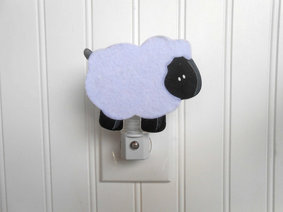 Sheep Nursery Decor - Lamb Nursery Decor - Night Light - Sheep Night Light - Lamb Night Light - Baby Shower Gift - Baby Night Light