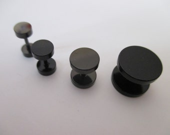 Black fake plug from 6 to 14mm