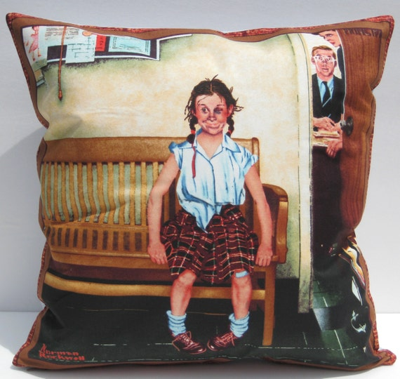 The Shiner Norman Rockwell 16 Decorative Pillow Cover