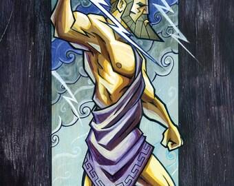 "11"" x 17"" Zeus art print"