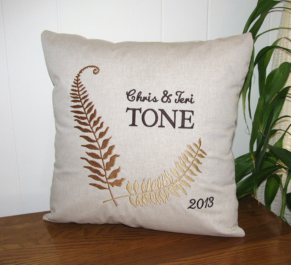 Personalized Pillows For Wedding Gift: Personalized Couples Pillow Wedding Gift Couples By ChickaTwee