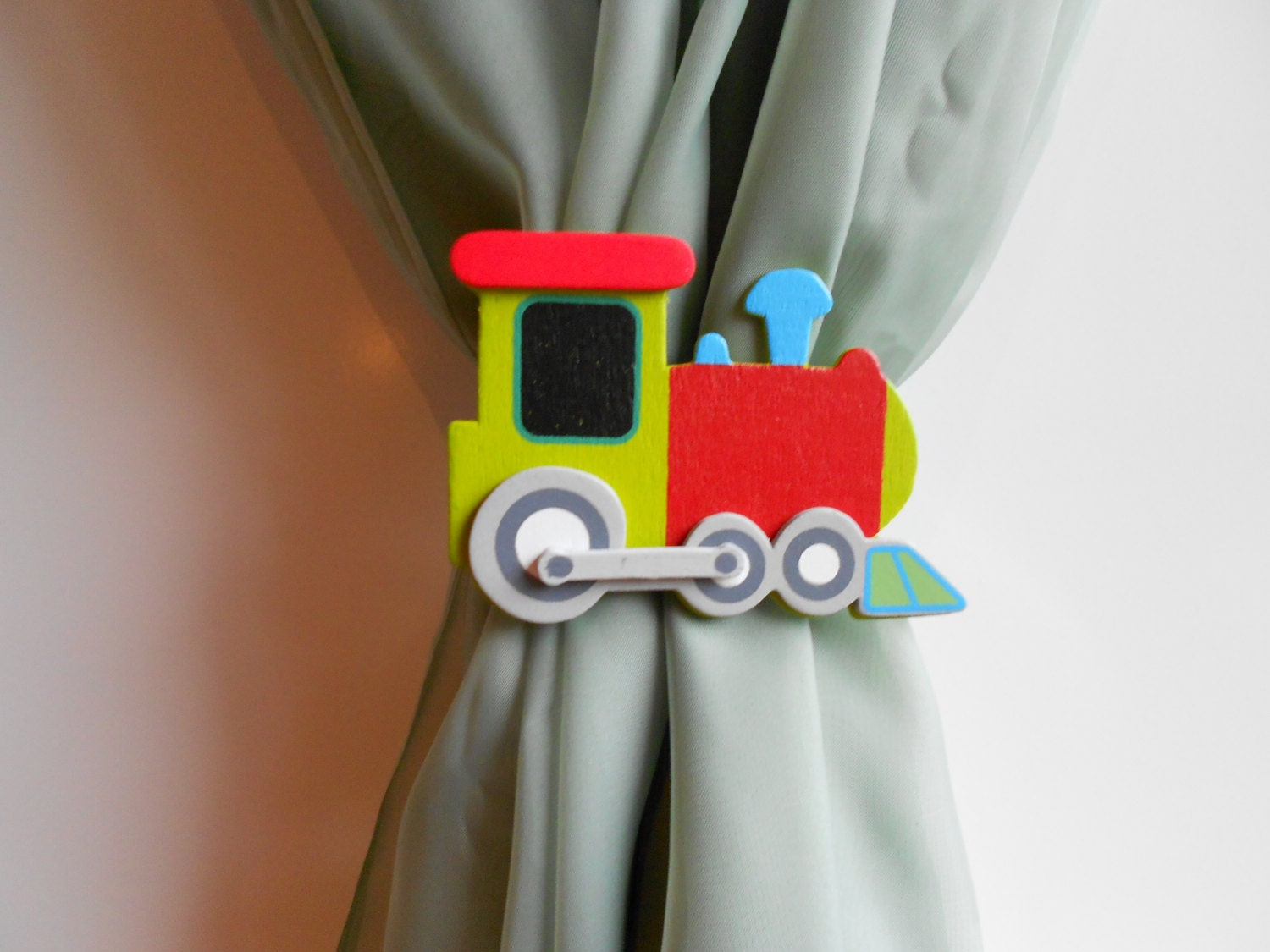 Train Curtain Tie Backs Nursery Decor Train By Tonyaandjoshua