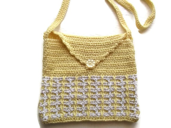 Crochet Shoulder Bag : Crochet Shoulder Purse Mini Bag. Purse. Pouch. OOAK by Crochet50