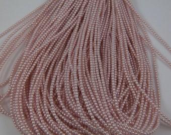 2mm Czech Glass Pearl - 70424 Soft Pink x 300pcs