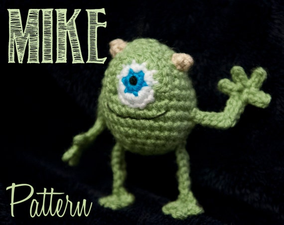 Amigurumi Monsters Inc : Mike Wazowski Monsters Inc Amigurumi Crochet Pattern