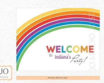 Rainbow Themed Welcome Sign / Rainbow Party