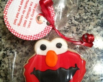 Elmo custom decorated cookies - 1 Dozen