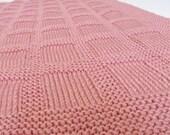 Knitting Pattern: Knit Baby Blanket Pattern Checks and Blocks