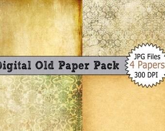 Digital Image Download of Digital Old Paper Pack for Background
