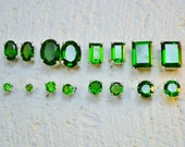 Chrome Diopside Stud Earrings In Sterling Silver - Choose a size!
