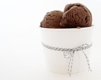 12oz White Ice Cream Cups - Set of 12