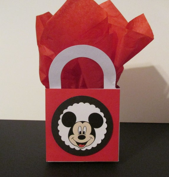 10 Mickey Mouse Favor Boxes Centerpieces Baby Shower / Gender Reveal / Birthday Party Favor