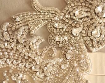 Bridal Wedding Sash belt Floral- HAZEL (Made to Order)