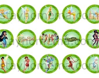 INSTANT DOWNLOAD One Inch 4x6 Bottle Cap Images: Fairies tinkerbelle tinkerbell fawn iridessa silvermist rosseta vidia periwinkle tink logo