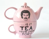 Hello Is It Tea You're Looking For - Lionel Richie Tea for One Teapot in Pastel Pink