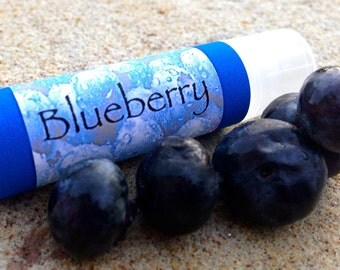 Blueberry Lip Balm--Made with Shea and Jojoba oil