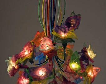 "Handmade Ceiling light chandelier, ""flowers 20"""
