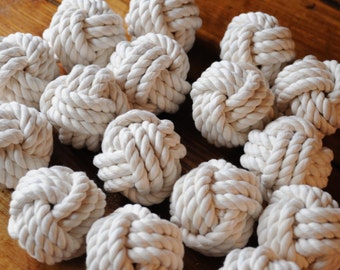 Nautical Decor - Nautical Wedding - Special Event - Table Number Holder Knots - (this is for 100) - Smaller Knots - (2.75 inch diameter)