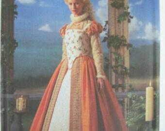 Elizabethan Dress Costume Simplicity 8881 Sizes 6-12  Uncut Out of Print OOP Renaissance Dress Historical