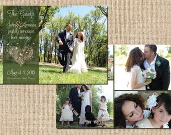 Wedding Announcement (Lace Heart) Printable Wedding Announcement