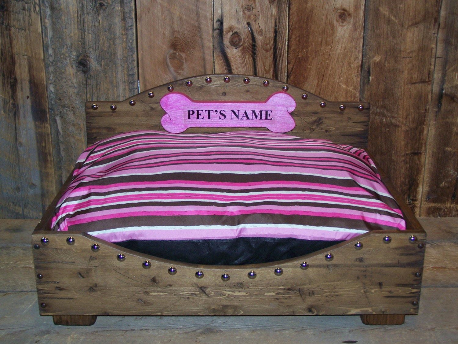 Very Impressive portraiture of Medium Dog Bed Western Dog Bed Wood Dog Bed by WorkHorseFurniture with #9E2D76 color and 1500x1125 pixels