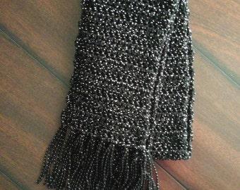 black glitter scarf