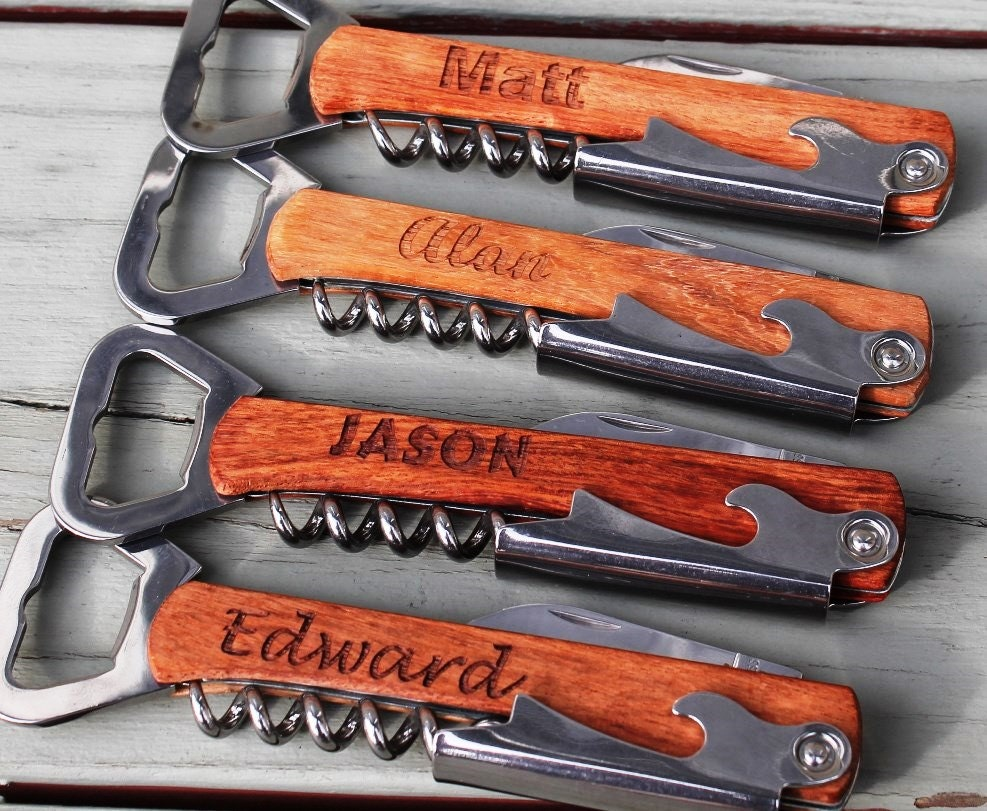 Personalized Wedding Gifts For Groomsmen: Personalized Corkscrew And Multi-Tool Groomsmen Gifts