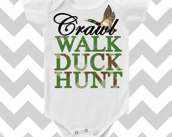 Crawl Walk Duck Hunt Duck Dynasty Custom Color Baby BOY Bodysuit by Simply Chic Baby Boutique