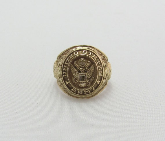 Items Similar To Vintage 10 Kt Yellow Gold Men S Signet