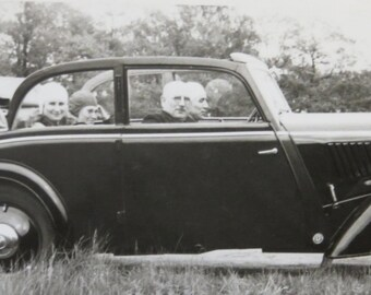 Men To The Front - 1930's Convertible Ride With Ladies In The Back Seat Snapshot Photo - Free Shipping