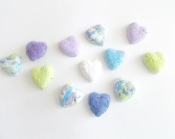 Seed Bomb Hearts - Plantable Paper With Wildflower Seed Balls - Watercolor Mix