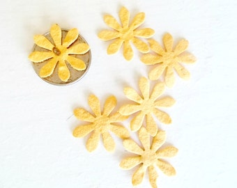 Golden Yellow Plantable Paper Daisy Flowers, Eco Friendly Wedding and Party Decor