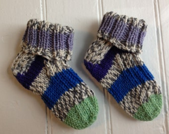 Multicolored Ribbed Socks - Toddler Size
