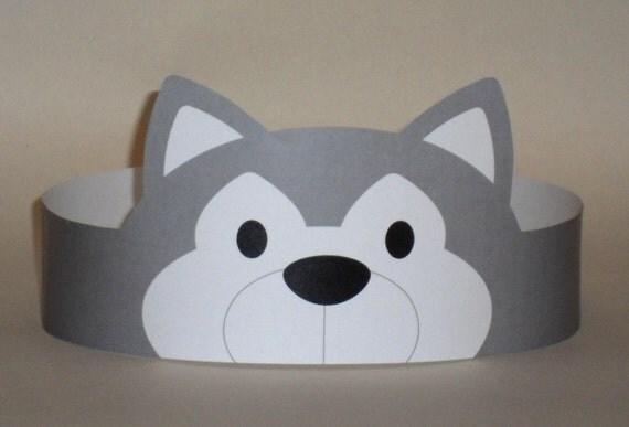 Wolf Paper Crown Printable