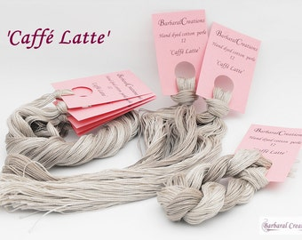 Hand dyed cotton perlé 12 - 'Caffé Latte'