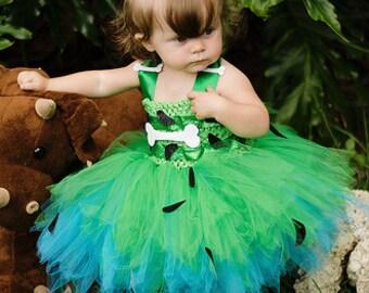 Pebbles costume- pebbles tutu dress- pebbles halloween costume