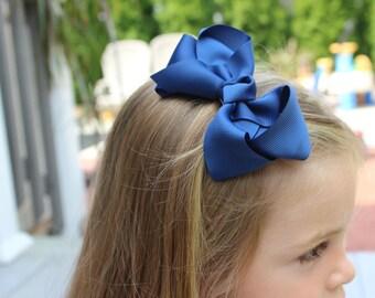 4 INCH Bow Hair Clips.  Girls Hair Clips.  4 inch Bow Clips with Non Slip Grip. Grosgrain Bow Hair Clip.  Bow Clips. Hair Clips.