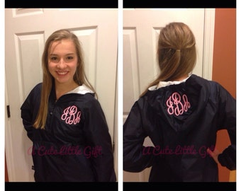 Monogrammed windbreaker jacket