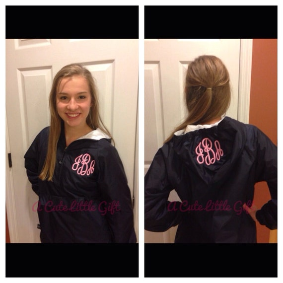 Monogrammed windbreaker jacket by ACuteLittleGift on Etsy