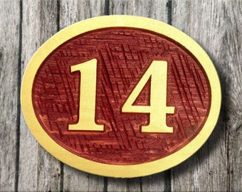 Made to order Exterior Cedar Street Address sign / House number