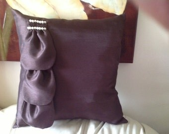 Chocolate Pearl Throw Pillow