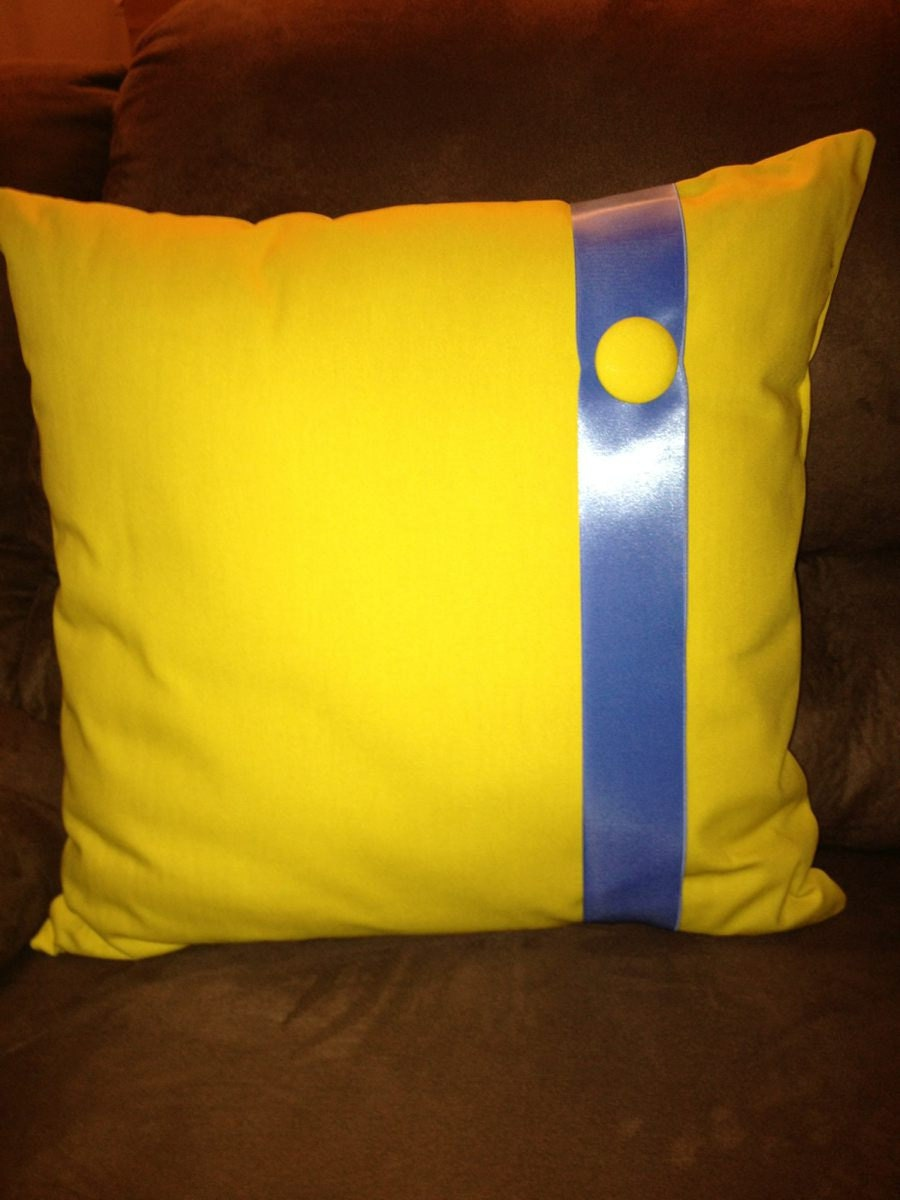 Yellow and Blue Throw Pillow Buy 2 and get a 12 x