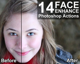 14 Face Photoshop Action - Skin, Face, Eyes, Teeth, Lips - Flawless Face