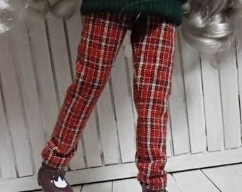 blythe clothes,Pants Vintage Check orange  dc095